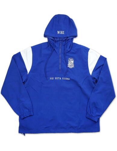Phi Beta Sigma Fraternity Waterproof Anorak Jacket- Size XL-New!