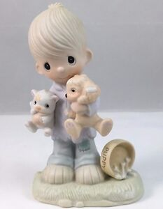 Precious Moments 1979 Blessed Are the Peacemakers E-3107 Dove mark