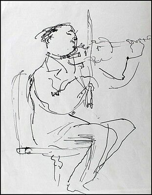 Isaac STERN (Violin): Original Portrait Drawing