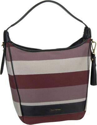 Canvas Leder Hobo Bag (Marc O'Polo Liv Hobo Bag M Stripy Canvas Beuteltasche / Hobo Bag Leder)