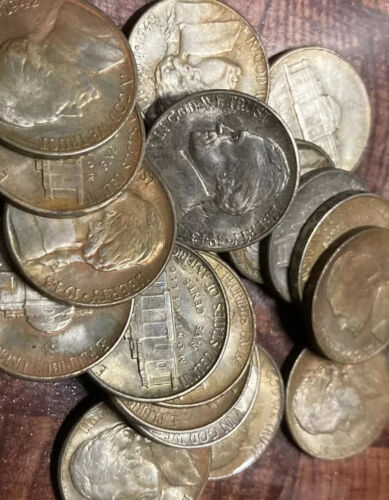 1face.. TWENTY 20 SILVER WAR NICKELS.. Unsearched.. Nicecoins Usa - $27.50