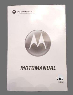 VINTAGE MOTOROLA MOTOMANUAL FOR V180 GSM WIRELESS PHONE ~ English & Spanish