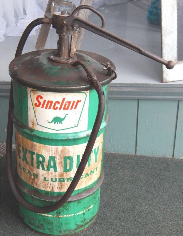 Vintage Sinclair Hand Oil Pump
