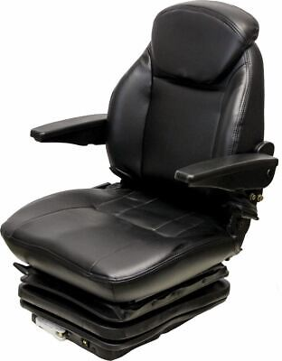 Black Vinyl Seat With Mech Suspension- 10 14 Side To Side Mount Construction