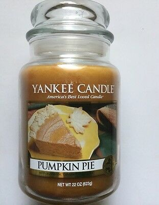 Yankee Candle PUMPKIN PIE 22 oz LARGE JAR HTF FALL FAVORITE SCENT RETIRED