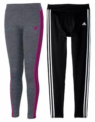 Adidas Girls' Performance Tight Three Stripe Leggings