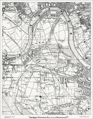 Barnes, Putney (W), Chiswick Map 1888 Gtr London #25