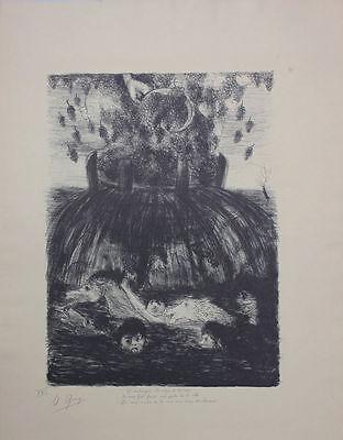 Edouard Goerg (1893-1969)  - Weinkelter Original-Lithographie, um 1930