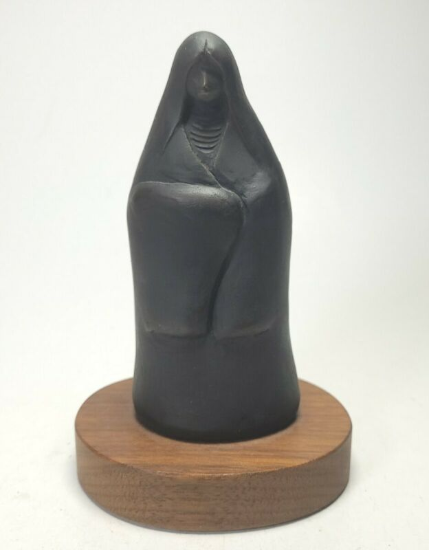Signed 1992 Allan Houser Bronze Mother Baby Papoose Figurine #2/60 Apache