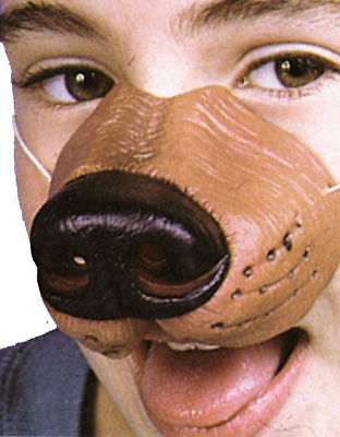 Morris Costumes Hand Painted Realistic Vinyl Elastic Band Dog Nose. FA133
