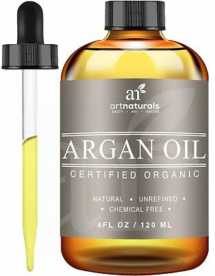 ArtNaturals Argan Oil 100% Certified Organic 4.0 oz for Hair Face / Skin