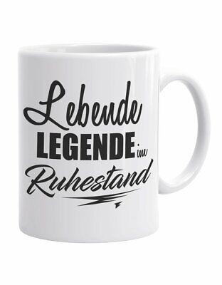 Lebende Legende im Ruhestand - Kaffeebecher - Geschenkidee für Rentner ()