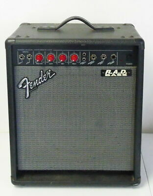 Vintage Red Knob Fender R.A.D. Bass Amplifier 75 Watt Combo ~ Free Shipping