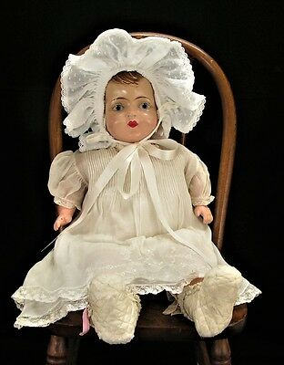 Antique 1920s - 30s Composition and Cloth Baby Doll