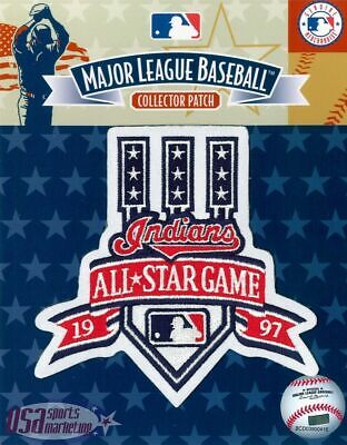1997 All Star Game Official Cleveland Indians MLB Sleeve Jersey Logo Patch Game Official Mlb Baseball Jersey