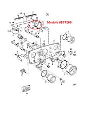 Volvo Penta ~ 837266 Instrument Panel Timer Relay Module