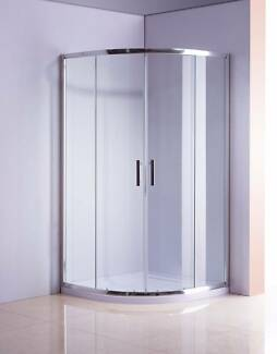 Rounded Sliding Curved Shower Screen 6mm Toughened Glass with Bas