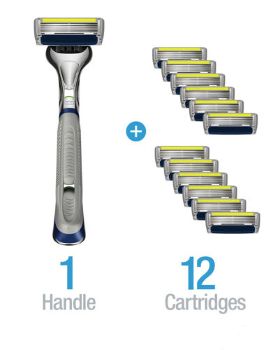 Six 6 Blades Razor Shaving Trimmer 12 Cartridge Value Pack Top Quality by Dorco