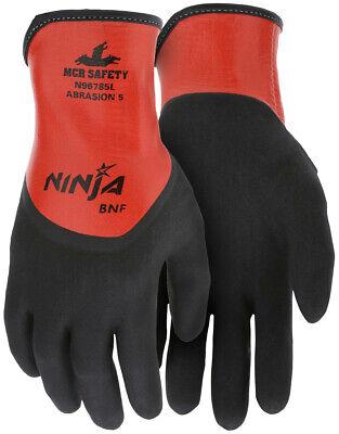 Mcr Safety Ninja Bnf Nitrile Coated Waterproof Nylon Work Gloves