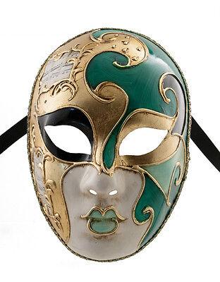 Mask Venice Volto Musica Milo Green & Gold Craft Tops/Bodysuits 1358 VG21