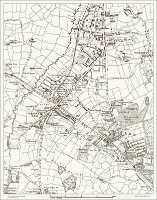 Finchley, Woodside Park Map 1888 - Gtr London #2