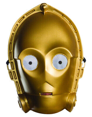 Men's C-3PO Star Wars Classic Ben Cooper Vacuform Mask](C3po Costume Men)