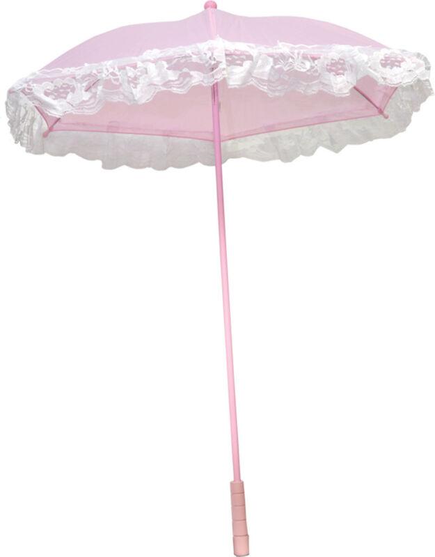 Morris Costumes Nylon Ruffle Pink Parasol. BB31PK