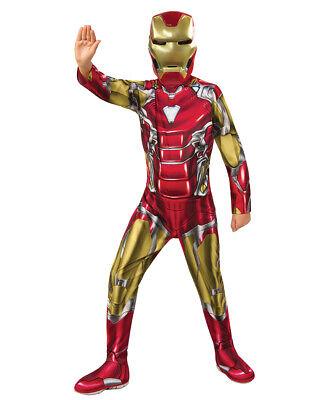 Iron Man Costume, Kids Avengers: Endgame Outfit L Age 8-10 Height 142-152 - Ironman Kostüm Kid