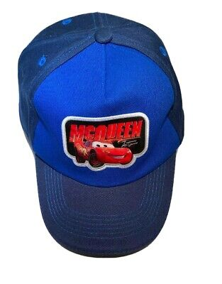 Disney Cars Lightning McQueen Accented Blue Baseball Cap Age Toddler