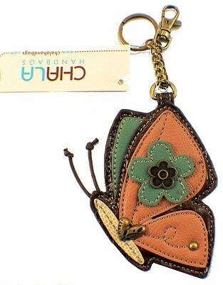 Chala Butterfly Whimsical Inspired Key Chain Coin Purse Leather Bag Fob Charm
