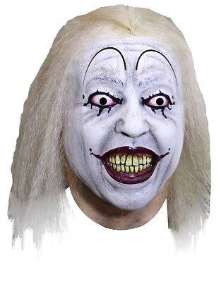 Clowntown Baseball Clown Adult Latex Mask Evil Psycho Killer Klown - Baseball Halloween Mask