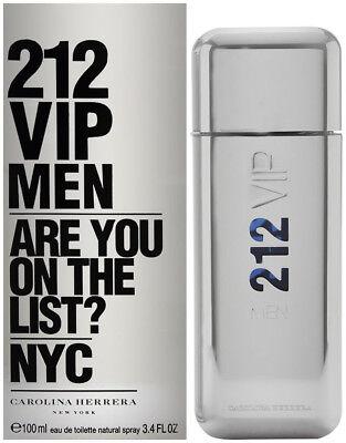 212 VIP MEN by Carolina Herrera cologne EDT 3.3 / 3.4 oz New in Box