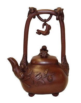 Chinese Zisha Clay Monkeys Accent Teapot Display Art cs2905