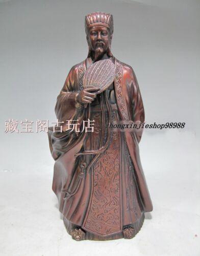 China Three Kingdoms Famous Politicians strategist Zhu ge Liang KongMing Statue