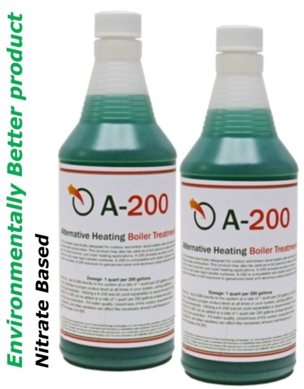 Outdoor Boiler Water Treatment with Rust Inhibitor A200, Treats 400 Gallons