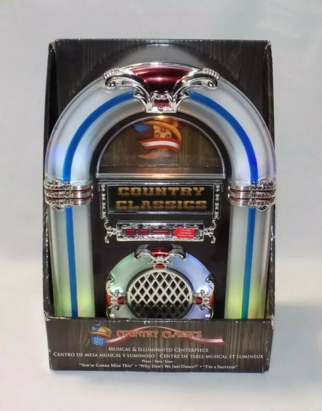 Country Classics Musical Jukebox - Plays 3 Songs, Lights Change Colors - New NIB