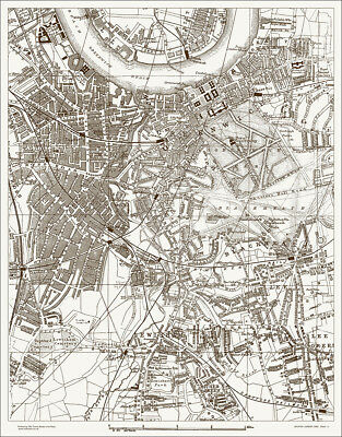 Greenwich, Deptford, Lewisham,  Map 1888 Gtr London #30