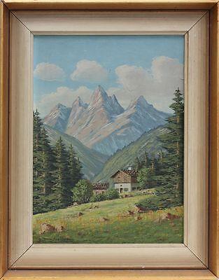 B.T.Jessler - Langkofelgruppe Dolomiten,  Ölgemälde, 1950/1960er Jahre