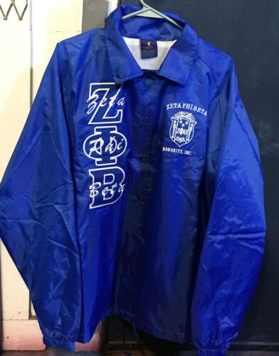 Zeta Phi Beta Sorority Line Jacket- Royal Blue- Size Large-New!