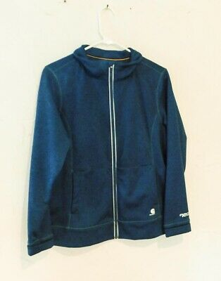 Carhartt Women's Force Extremes Zip Front Blue Sweatshirt Jacket Large for sale  Owosso