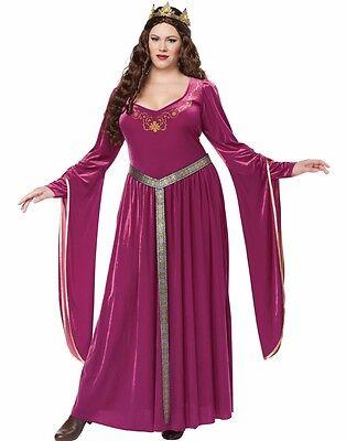 Queen Guinevere Costume (Lady Guinevere Costume Dress Renaissance Medieval Queen - Plus Size XL 2XL)