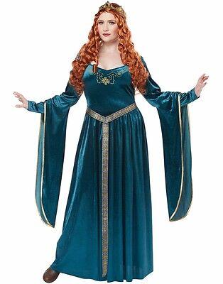 Lady Guinevere Costume Dress Medieval Renaissance Queen - Plus Size XL 2XL 3XL
