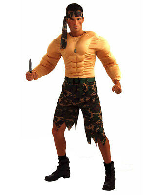 Jungle Commando Mens Army Military Combat Hero Costume-FORUM 66998-STANDARD](Army Costume Mens)
