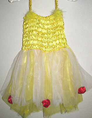 New Costume tutu dress Belle  Beauty and the beast Inspired size 2 4 6 years