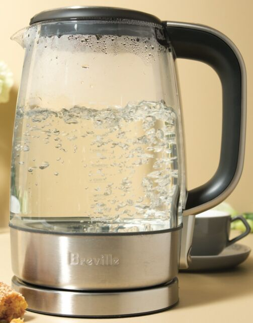 NEW Breville Crystal Clear Glass Kettle 2400W 1.7 Litre BKE595