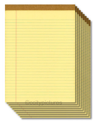 9 8.5 X 11 100 Sheet Yellow Writing Paper Note Pads - Made In Usa - New