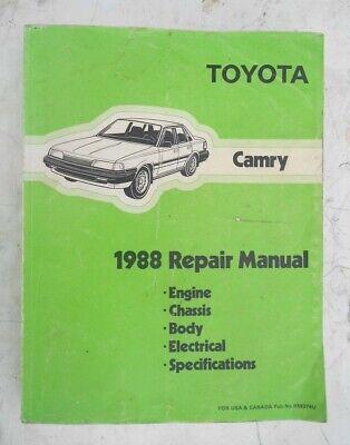 1988 Toyota Camry Factory OEM Service & Repair &  Manual