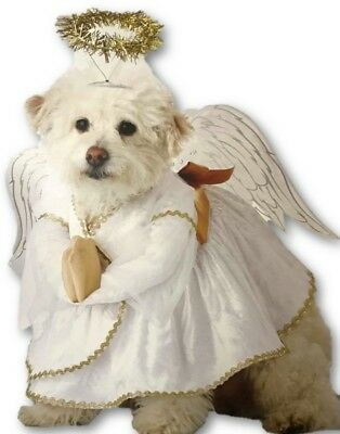 Heavenly Hound Dog Angel Costume Christmas Dress Wings Halo Pup Pet XS SM MD LG