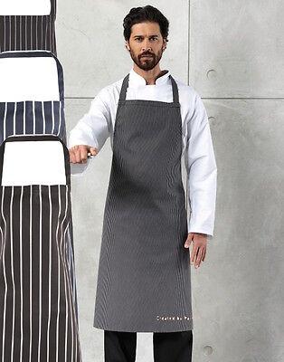 elegant schwarz Leder oder marineblau blau und weiß Streifen Metzger Koch