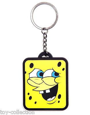Smiling Spongebob Schwammkopf - Gummi Schlüsselanhänger / rubber keychain